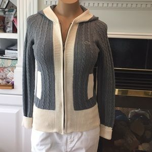 Lacoste cardigan sweater NWT